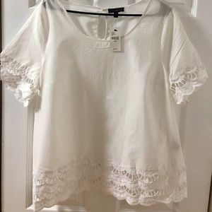 Lane Bryant cotton and lace shirt NWT